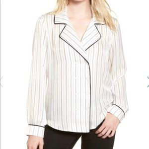 Socialite Double Breasted Pajama Top
